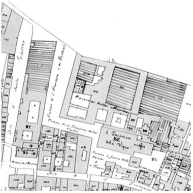 01 Catasto Napoleonico - Campo San Francesco della Vigna - Bonifica Gasometri Venezia
