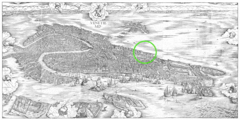 1500 Jacopo de' Barbari - Bonifica Gasometri venezia