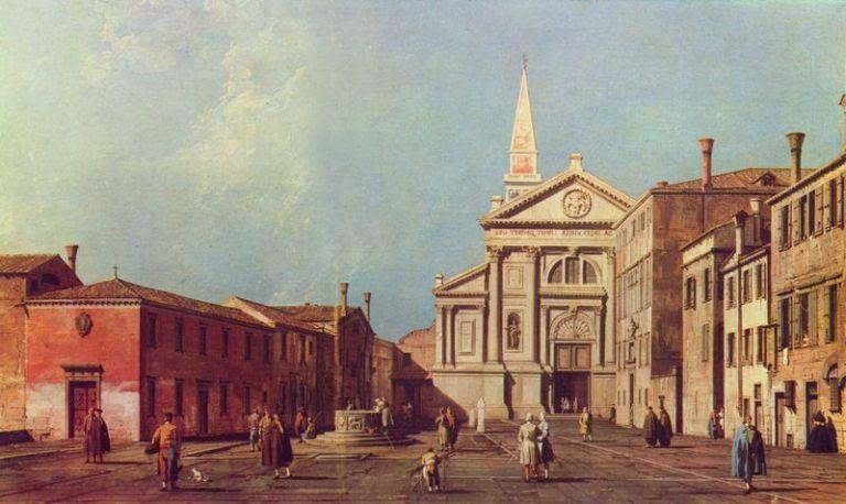 CANALETTO - Il Campo e la Chiesa di San Francesco della Vigna - Bonifica Gasometri Venezia