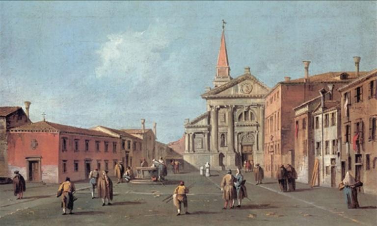 GUARDI - Il Campo e la Chiesa di San Francesco della Vigna - Bonifica Gasometri Venezia