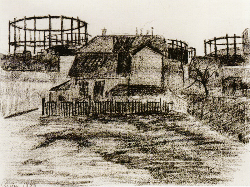 03 Paul Signac - The Gas Tanks at Clichy 1885 - fonte www.pubhist.com Gasometri