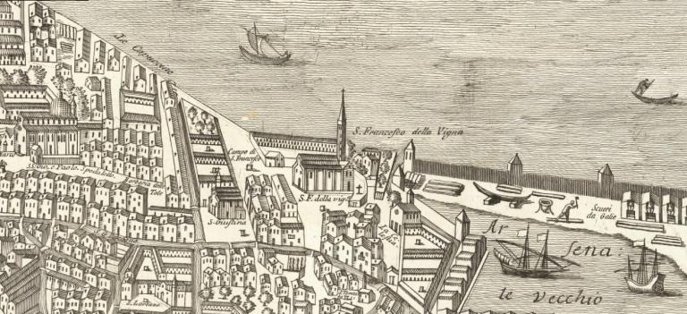 1770 Lodovico Furlanetto Nuova Pianta Elevata Della Nobile e Cospicua Citta di Venezia