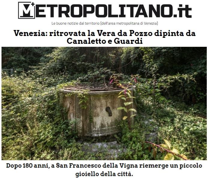 METROPOLITANO.it articolo Vera da pozzo ai Gasometri di Venezia in Campo San Francesco
