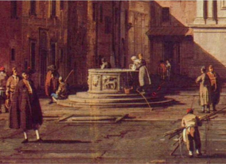 Quadro del Canaletto, collezione privata, Milano.Mappa 7G
