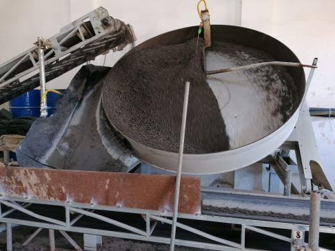 01 pellet lavorazione sistema brevettato mapei - Bonifica Gasometri Venezia