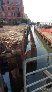 02 palancole lato laguna luglio 2020 - Bonifica Gasometri Venezia