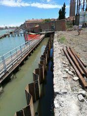 09 palancole esterne lato laguna luglio 2020 - Bonifica Gasometri Venezia