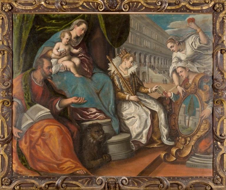 Dedizione del Cadore a Venezia, Cesare Vecellio 1599 - MAGNIFICA COMUNITà DI CADORE - Bonifica Gasometri Venezia