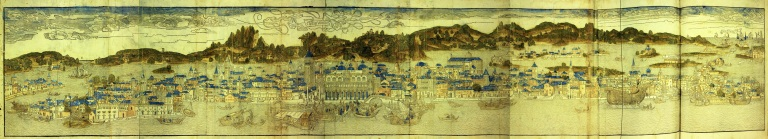Veduta di Venezia realizzata da Erhard Reuwich, 1486 - Bonifica Gasometri Venezia