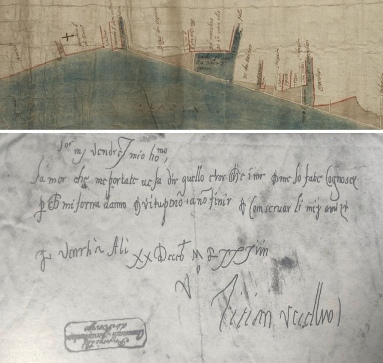 Matteo Vieceli storia Tiziano Vecellio San Francdesco della Vigna Fondamente Nove Venezia testo antico in Bonifica Area Gasometri Venezia